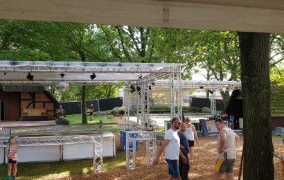NEWS: Aufbau für AHRENSMOOR Open Air 2. Tag!