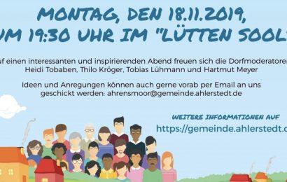 NEWS: Soziale Dorfentwicklung – öffentlicher Termin im Lütten Sool