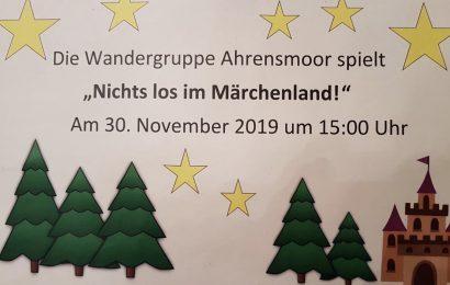 """News: Die Wandergruppe Ahrensmoor spielt """"Nichts los im Märchenwald!"""""""
