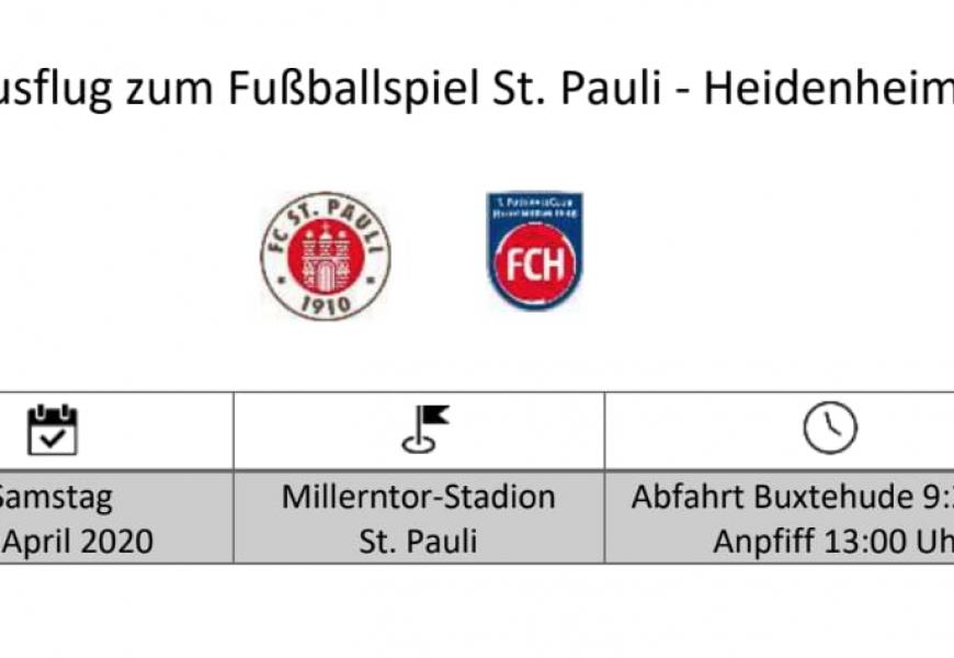 DG News: Ausflug zum Fußballspiel St. Pauli – Heidenheim